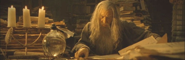 gandalf-in-library